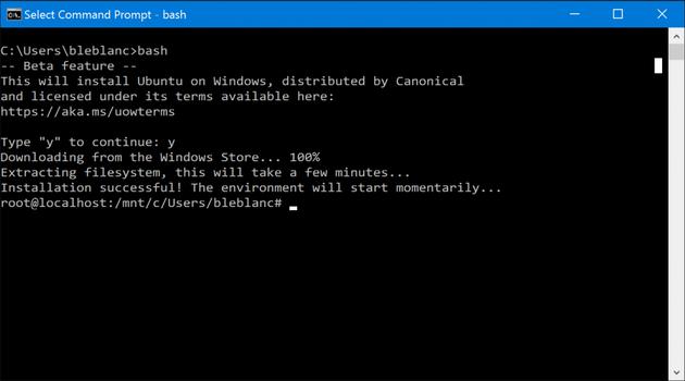 最新Win10 Build 14316支持Linux Bash